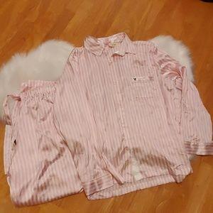 NWT Victoria's Secret silk pajama set L